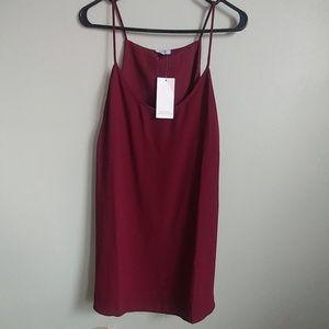 Women's Burgundy Mini dress